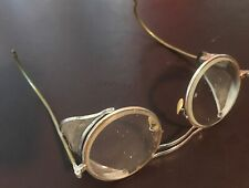 Vtg 30s/40s American-Optical Industrial Metal Safety Glasses ~ Steampunk
