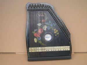 alte Zither antik Zitter um 1900 Jubeltöne, Konzert-Salon-Harfe, Musikinstrument