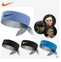 Nike Rafael Nadal Federer Dri-Fit Tie Up Swoosh Tennis Headband Bandana Rafa