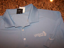 NIKE GOLF - POLYESTER PERFORMANCE GOLF POLO SHIRT - L - LOGO - GREAT COLOR