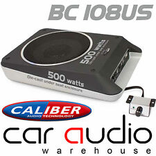 BC108US 500 Watts Amplified Under Seat Active Car Sub Subwoofer Bass Box Tube