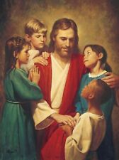 JESUS WITH KIDS 8X10 GLOSSY PHOTO PICTURE