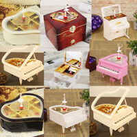 Creative Mini Piano Model Metal Antique Musical Box Birthday Wedding Gift Decor