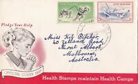 NZFD71) NZ 1957 Health Stamps Maintain Health Camps