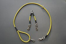 Custom Yellow Two Dog Cable Lead Coupler Hog Dog Supplies Large Breed Coon Dog