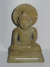 Vintage Marble Buddha Murti Religious Statue Home Buddhist Temple Art Decor Gift