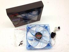 New Kentek 120mm 12 cm Blue 4 LED LEDs Case Power Supply Fan 3 /4 Pin Connector