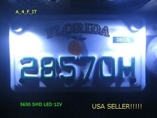 Yamaha White LED Motorcycle Car License Plate Bolt Light Kit