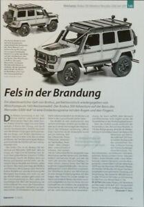 BRABUS 550  MERCEDES G 500  in 1-43 von Minichamps...ein Modellbericht  #2011c