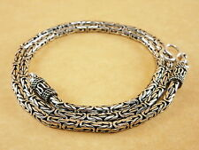 "Byzantine Bali Borobudur 925 Sterling Silver Pendant Necklace Chain 3mm 20"" 32g"