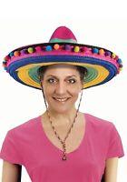 Deluxe Multicolor Striped Sombrero