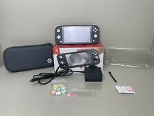 Nintendo Switch Lite Handheld Console - Grey - With Cary Case, Protector and Box