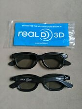 [Set of 2] Real D 3D Passive Adult Glasses