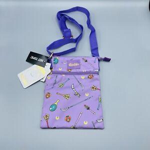 Loungefly Sailor Moon Passport Crossbody Bag Purse 6x9