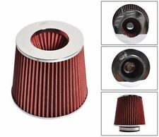 Universal KN Type 3.5 Inch Red Air Intake Filters Fit for Most Cars