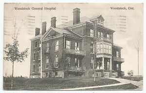 POSTCARD-CANADA-ONTARIO-WOODSTOCK-PTD. Woodstock General Hospital.