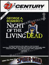NIGHT OF THE LIVING DEAD__Original 1989 Trade print AD promo_GEORGER ROMERO_1990