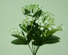 Gypsophila Bush With Leaves 32cm Artificial Flowers