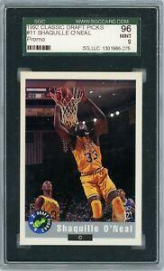 SHAQUILLE O'NEAL 1992 Classic Draft Picks Promo Atlanta National #11 SGC 9 Pop 1
