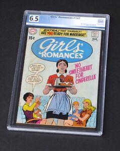 Girls' Romances 147 PGX 6.5 DC Comics 1970 Cinderella Girls Love Story