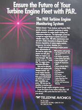 1/1992 PUB TELEDYNE AVIONICS PAR TURBINE ENGINE MONITORING SYSTEM ORIGINAL AD