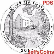 2017 P&D&S Ozark Riverways National Historic Site Park Quarter U.S.Mint PDS ATB