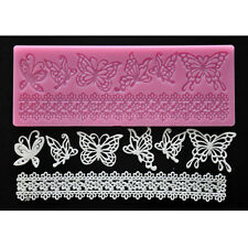 Pink Lace Butterfly Silicon Mold Sugar Craft Fondant Cake Decorating Baking Tool