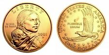 2001 P&D Native American Sacagawea Uncirculated Dollars US Mint Coin Set