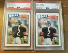 (2) 1987 Topps - Doug Flutie Rookie #45 - PSA 9 - Chicago Bears