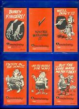 1961 61 TOPPS FUNNY GIANT TALL VALENTINES COMPLETE 55-CARD SET NICE!!!