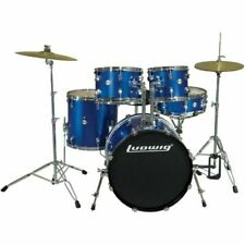 Ludwig LC175 Accent Drive Complete Drum Kit, Deep Blue - 5 Piece
