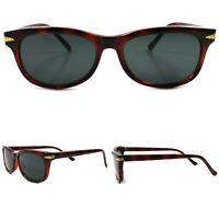 Horn Rimmed Classic Style Hipster Tortoise Frame True Vintage 80s 90s Sunglasses
