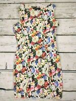 Sugarhill Boutique Bodycon Sleeveless Bright Floral Stretch Mini Dress Size 10