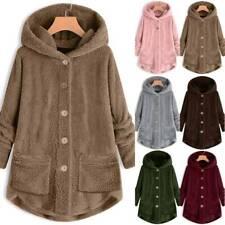 Women Fleece Hoodie Hooded Coat Winter Warm Tops Long Jacket Outwear Plus Size