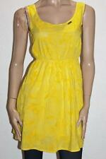 AMARILLOLIMON Designer Yellow Floral Print Sleeveless Dress Size S BNWT #sM61