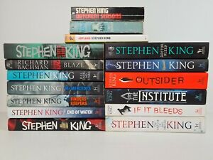 STEPHEN KING Large Paperback Book Bulk Lot Collection x16 Horror Books Thriller