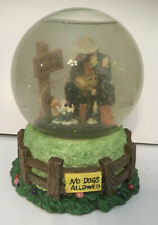 Vintage Flambro Emmettkelly Jr. Collection Snow Globe Music Box No Dogs Allowed