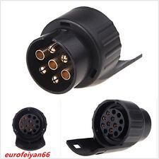 Black European Car Trailer Electrics Converter 7 To 13 Pin Adapter Towbar Socket