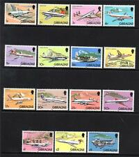 GIBRALTAR MNH 1982 AIRPLANES SET OF 15