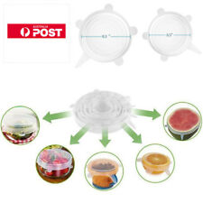 12PCS Silicone Stretch Lids Suction Lid - Multi Size Stretchable Covers for Bowl