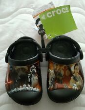 Brand New Pair Of Star Wars Children Crocs size 4-5 ~ Black Nwt