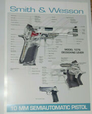 VINTAGE SMITH & WESSON 10 MM SEMIAUTOMATIC PISTOL POSTER