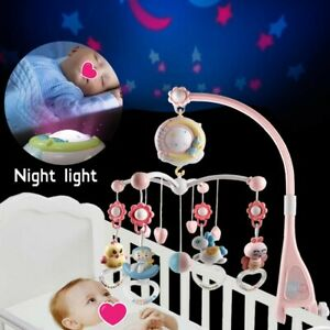 Baby Rattles Crib Mobiles Toy Holder Rotating Mobile Bed Bell Musical Box 0-12 M