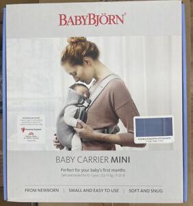 BabyBjörn Baby Carrier Mini 7-25lbs - Vintage Indigo Cotton