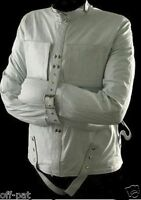 REAL LEATHER (WHITE)  HEAVY DUTY STRAIGHTJACKET STRAIGHT STRAIT JACKET BONDAGE