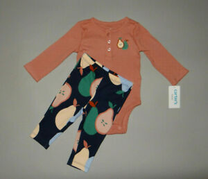 NWT, Baby girl clothes, 3 months, Carter's 2 piece pear set