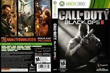 - Call of Duty: Black Ops II Xbox 360 Juego de reemplazo cubierta obras de arte