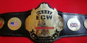 ECW World Television Wrestling Championship Belt Thick Plates Leather Replica