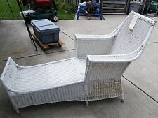 ANTIQUE...WICKER CHAISE LOUNGE...CIRCA 1880 : antique wicker chaise lounge - Sectionals, Sofas & Couches
