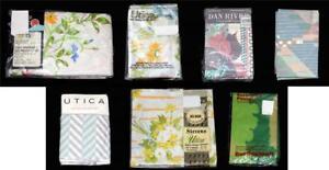 Vtg Varied Designs Flowers*Geometric*Stripes Standard or King Pillowcases NEW